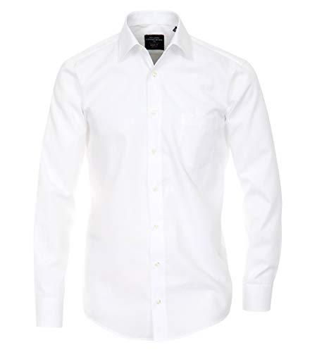 CASAMODA Herren Businesshemd Uni Modern Fit Weiß 41