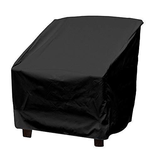 Terrazza Copertura per Sedie Anti Polvere Anti-UV Impermeabile Rip Resistente Copertura per Mobili Sedia Divano Tavolo Protettore per Poltrona Giardino in Vimini All'aperto (Black)
