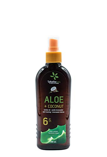Aloe Vera et huile de bronzage à la noix de coco 6 SFP 200 m