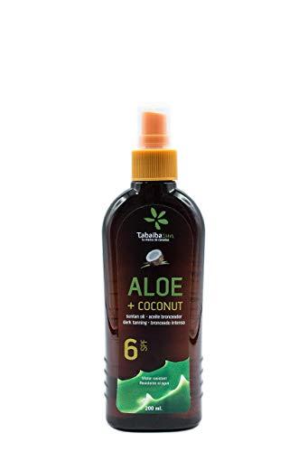 Aloe Vera et huile de bronzage à la noix de coco 6 SFP 200 ml TabaibaSun