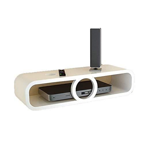 WJSW Regal Set-Top-Box Regal Wand-TV-Schrank Router Aufbewahrungsbox Kreatives Wandregal (Farbe: A)