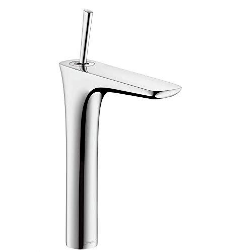 hansgrohe Wasserhahn PuraVida (Armatur mit Auslauf Höhe 240 mm, Push-Open Ablaufgarnitur und 900 mm Anschlussschläuchen für Waschschüsseln) Chrom