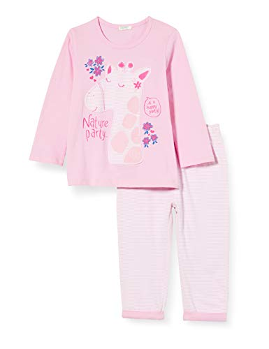 United Colors of Benetton Completino T-Shirt E Pantalone Conjunto de Ropa, Rosa (Lilac Sachet 74p), 74 para Bebés