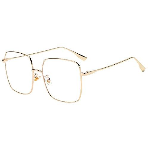 IFOUNDYOU Metall Frame Runde Brille Retro Metall Klare Linse Brille, Unisex, Schwarz, Golden, Silbern Farbe, 3 Paar