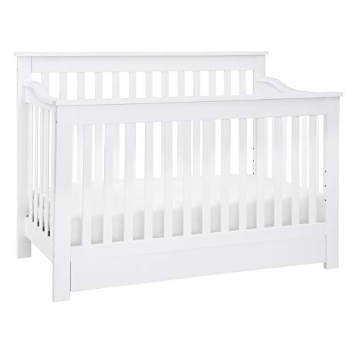 DaVinci Piedmont 4-in-1 Convertible Crib with Toddler Bed Conversion Kit in White | Greenguard Gold Certified