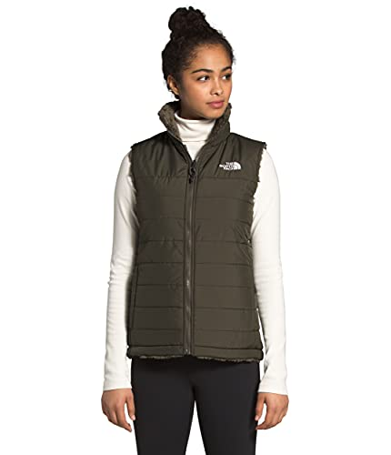 The North Face Women's Mossbud Insulated Reversible Vest, New Taupe Green, S