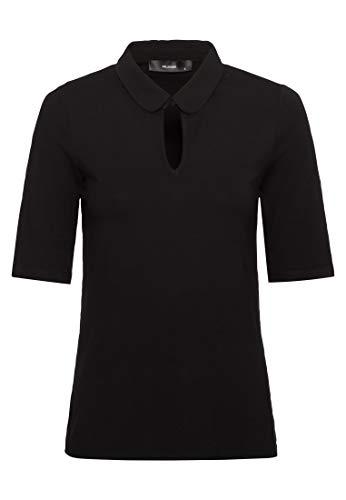 HALLHUBER Bubikragen-Shirt aus LENZING™ ECOVERO™ leicht tailliert schwarz, XS