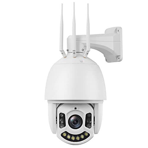 LABE Cámara de vigilancia para Exteriores/WiFi / 4G / 5 Millones IP66 Cámara de vigilancia HD para Exteriores Impermeable remota con Zoom de 30x visión Nocturna 150 Metros (492 pies)