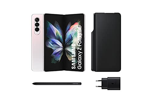 Samsung Galaxy Z Fold3 5G – Teléfono móvil sin tarjeta SIM, Android, Plegable, Smartphone, 512 GB, Plata + Note Pack (Version ES)