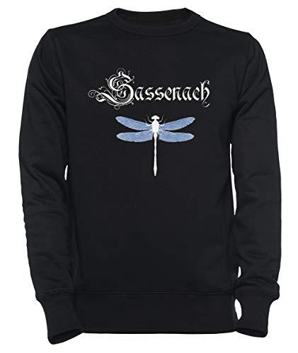 Sassenach Hombre Mujer Unisexo Sudadera con Capucha Negro Tamaño XS - Women's Men's Unisex Sweatshirt Hoodie Black