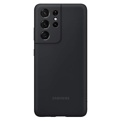 Samsung Cover in silicone per Samsung Galaxy S21 Ultra 5G , nero - 6.9 pollici