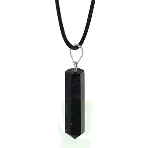 Obsidian Pendant Necklace - Natural Black Stone Jewelry for Men & Women   Powerful Protective Amulet & Talisman for Grounding, Shielding, Protection, Cleansing, Intuition, Balancing, Energy Healing