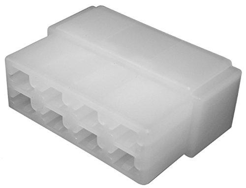 Aerzetix: 10 x Gehäuse Anschluss leer 8 Wege für Kabelschuh männlich 6.3 mm