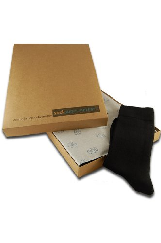 socksupermarket–Socken von Abo–Geschenk-Box, Schwarz