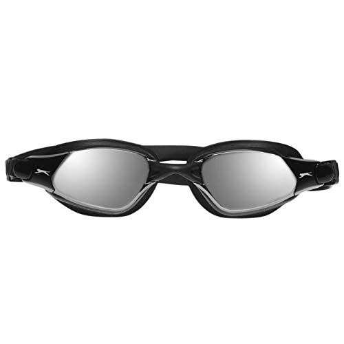 Slazenger Hombre Reflex Goggle Gafas De Natación Efecto De Espejo Negro Talla única
