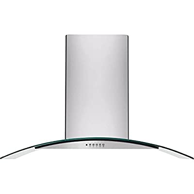 """Frigidaire FHWC3660L 36"""" Glass Canopy Wall-Mount Hood with Washable Filters and Halogen Lighting,"""
