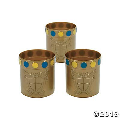 Knight Party Mugs with Jewel Rim (set of 12) Royal and Princess themed party supplies