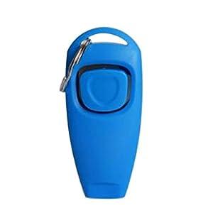 Junejour Plastique 2en 1Kits de Sifflet de dressage de chien Clicker Portable écorce Outil de contrôle avec réglable Frenquency