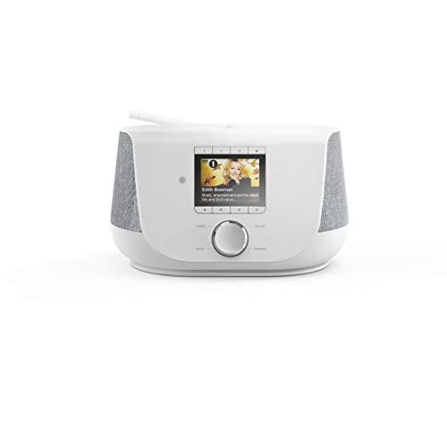 Hama DAB+ Digitalradio Internetradio (Smart Radio mit 2-Wege-Lautsprecher & Handy-Ladefunktion, WLAN/DAB/DAB+/FM, Bluetooth/Spotify Streaming, Stationstasten, Radio-Wecker, App) Internet-Radio weiß