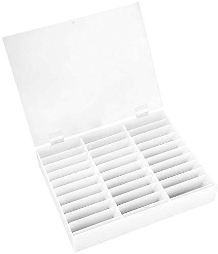 Unique WElinks Lot de 30 grilles pour Ongles, boîte de Rangement pour Ongles, Faux Ongles, présentoir à Ongles, présentoir à Strass, décoration pour Les Ongles, Accessoires (Blanc)