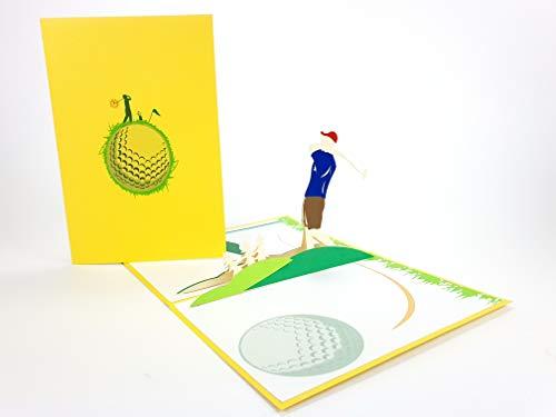 Golf, Tiger Holz, Golf Club, Landmark Pop Up Grußkarte Mercedes-Benz Auto Jahrestag Baby Happy Birthday Ostern Muttertag Danke Valentinstag Hochzeit Kirigami Papier Basteln Postkarten