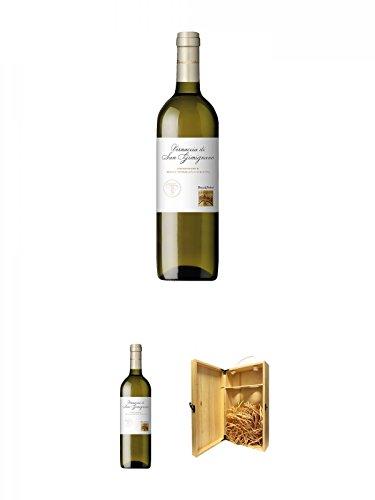 Teruzzi & Puthod Vernaccia di San Gimignano DOCG 0,75 Liter + Teruzzi & Puthod Vernaccia di San Gimignano DOCG 0,75 Liter + 1a Whisky Holzbox für 2 Flaschen mit Hakenverschluss