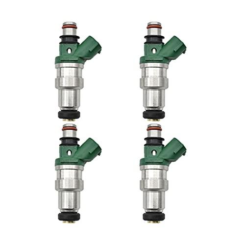 KCSAC 4pcs / lot inyector de combustible apto para TOYOTA NA TERCEL 1994 PASEO 1994~1995 1.5L 5E-FE 23250-11110 23209-11110