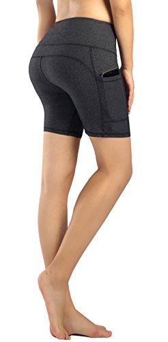 Munvot Damen Laufhose Sporthose Sport Leggings Tights-Grau (Kurz Hose)-L