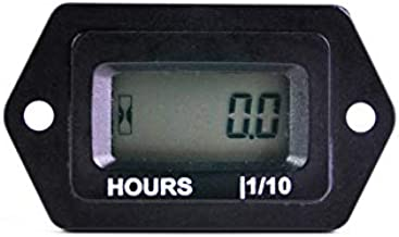 Runleader Digital LCD Hour Meter, AC/DC 5V to 277V ; Use for Riding Lawn Mower ZeroTurn Mower Tractor Generator Club car Golf cart Outboard Marine ATV Snowmobile Compressor and Gas Powered Equipment