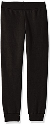 Hanes Big Girls' Comfortsoft Ecosmart Fleece Jogger Pants, Black, L