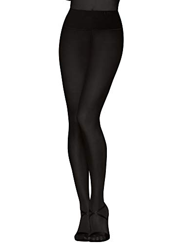 Donna Karan Hosiery Luxe Opaque Waist Smoothing Tights, Small, Black