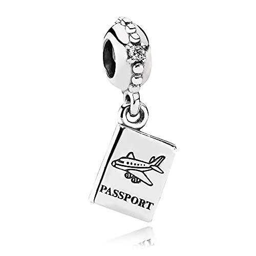 LISHOU Love Tree S925 Nipple Charm Thousand Paper Crane Colgante Accesorios De Joyería Collar Charms Beads DIY Mujeres Pandora Sterling Silver Passport Colgante