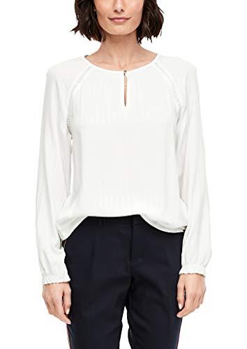 s.Oliver Damen Blusenshirt Bluse, Cremefarben (Cremefarben 0210), 38