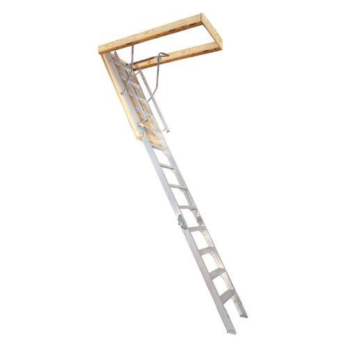 """Century Attic Stairway Folding Aluminum 12 ' 300 Lb Rough Opening 25-1/2 """" X 64 """""""