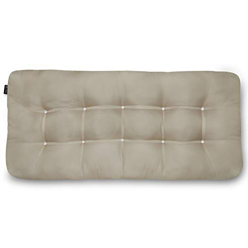 Classic Accessories Water-Resistant Indoor/Outdoor Bench Cushion, 54 x 18 x 5 Inch, Khaki