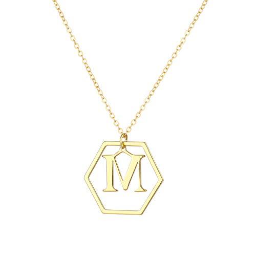 DQANIU Mini Alfabeto 26 Letras Iniciales Cobre Oro Rosa Collar de Elegante |Cadena de clavícula para Damas Nobles|Colgante de Minimalista Preciosa |Regalos Sorpresa para San Valentín y cumpleaños
