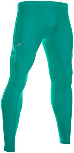 CompressionZ Men's Compression Pants Base Layer Running Tights Gym Leggings (Green, L)