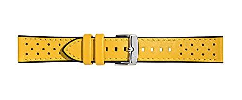 Morellato Unisex-Uhrenarmband, Kollektion Sport, Flyboard, echtes Kalbsleder und Gummi, A01X5121712, 20 mm