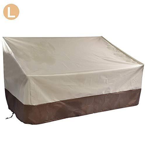 Sponsi Housse de causeuse de banc de patio robuste, housse de canapé d'extérieur 100 étanche, housse de banc de salon, housses de meubles de jardin avec pelouse, taille SML