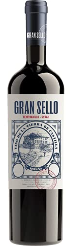 Gran Sello Semicrianza Tempranillo Syrah, Vino Tinto, 1 Botella, 75cl