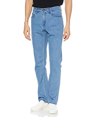 Volcom Solver Denim Pantalon pour Homme, Homme, Pantalon, A1931503, Bleu Indigo Vintage Plat, 38W / 34L
