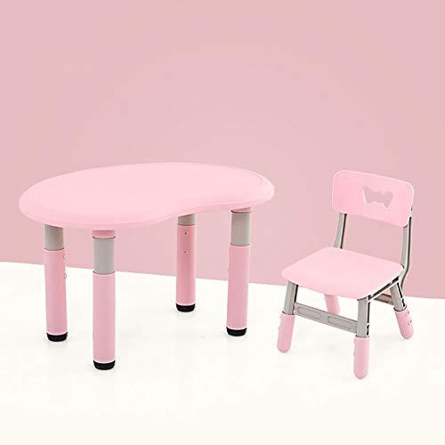 Kinder-Tisch- Und Stuhl-Set, 1 Tisch Und 1 Stuhl, Anhebbar, BPA-frei, Geeignet Für Jungen Und Mädchen Im Alter Von 3-7 Jahren Zum Schreiben Von Spielen