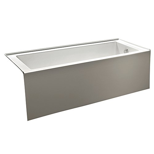 KINGSTON BRASS VTDE603122R 60-Inch Contemporary Alcove Acrylic Bathtub with Right Hand Drain and Overflow Holes, White