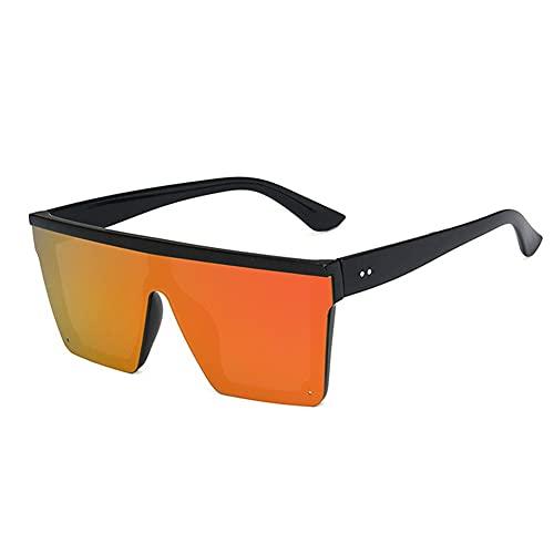 XCSM Gafas de Sol cuadradas de Gran tamaño Gafas de Sol con Escudo Superior Plano para Mujeres Hombres Moda Vintage Gafas de Montura Grande Playa de Verano Gafas de conducción al Aire Libre UV400