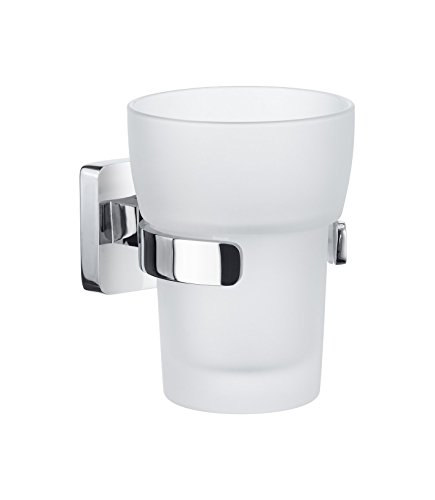 Smedbo ICE Zahnputzbecherhalter Verchromt/ Mattglas OK343