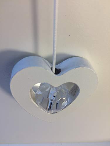 Witte Houten Hart Hanger Plafond Ventilator Blind Badkamer Trekkoord