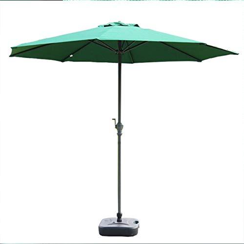 Sombrilla de jardín, 2.7m Sombrilla de jardín Sombrilla para jardín al Aire Libre Pesca Camping Patio Balcón Bistro Cafetería (Verde)