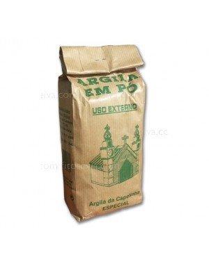 Argila Em Pó - French Green Clay 500 g - Poeder voor maskers en scrubs - 100% natuurlijk