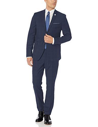Original Penguin Men's Two Piece Slim Fit Suit, Grey Solid, 38 Short