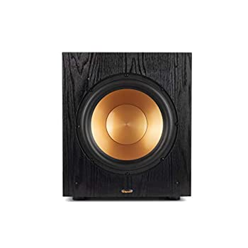 """Klipsch Synergy Black Label Sub-100 10"""" Front-Firing Subwoofer with 150 Watts of continuous power 300 watts of Dynamic Power and All-Digital Amplifier for Powerful Home Theater Bass in Black"""